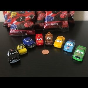 Other - NEW Disney Cars Mini Racers Blind Bags LOT OF 8